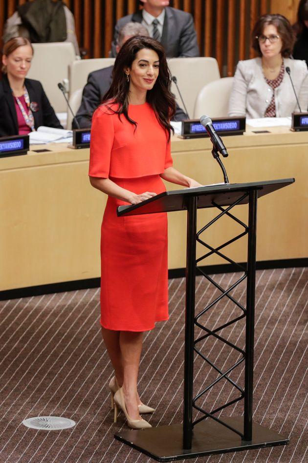 Βραβείο Global Citizen of the Year στην Αμάλ - Τα φλας άστραψαν για το ζεύγος