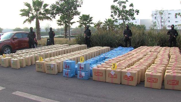 El Jadida: 10 tonnes de résine de cannabis saisies dans un