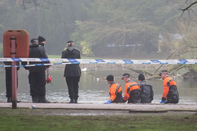 Police comb the area where Viktorija Sokolova's body was