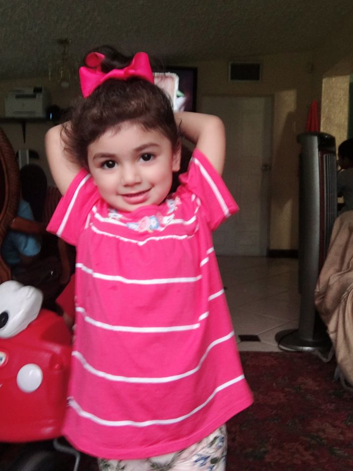 Zainab Mughal is a two-year-old from South Florida who is battling neuroblastoma.