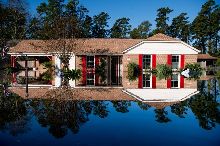 A home flooded by Hurricane Florence.