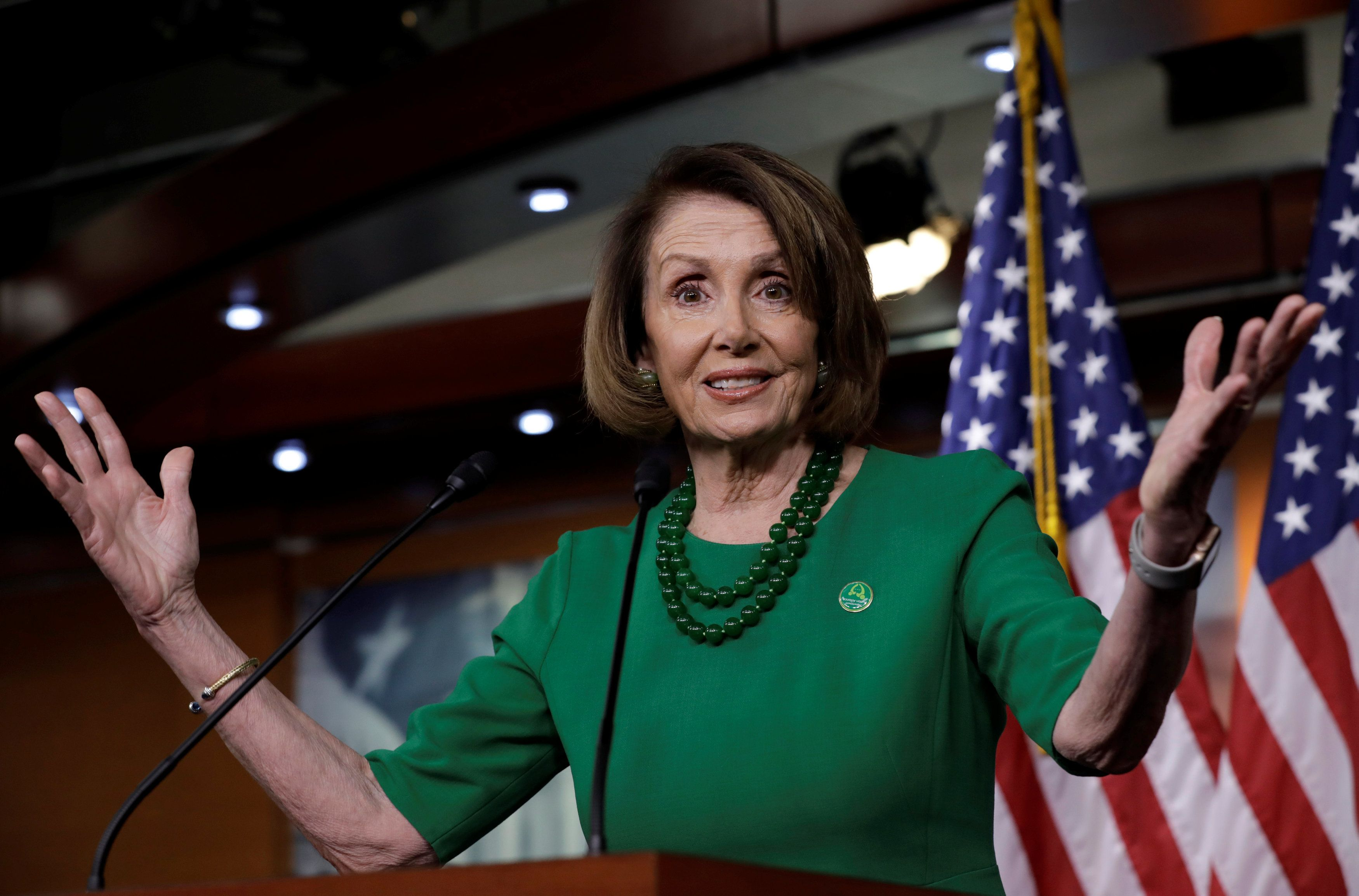 """The House still retains the right to decide who is seated,"" said Minority Leader Nancy Pelosi (D-Calif.), referring to"