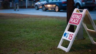 Residents of Mecklenburg County in Charlotte, North Carolina make their way to cast their vote at precinct #2 on November 6, 2018. - Americans started voting Tuesday in critical midterm elections that mark the first major voter test of Donald Trump's controversial presidency, with control of Congress at stake. About three quarters of the 50 states in the east and center of the country were already voting as polls began opening at 6:00 am (1100 GMT) for the day-long ballot. (Photo by Logan Cyrus / AFP)        (Photo credit should read LOGAN CYRUS/AFP/Getty Images)