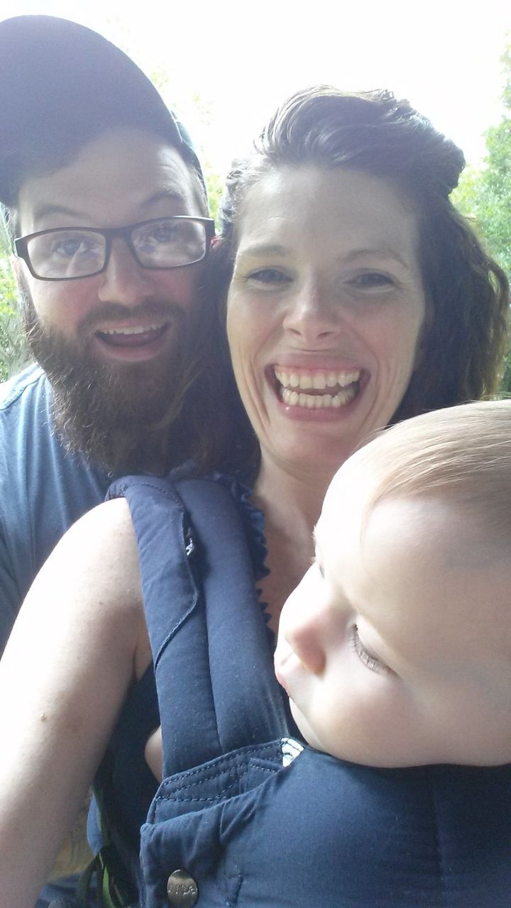 A family photo opp while out on a walk. It's hard to believe there was a time when there was only three of us.