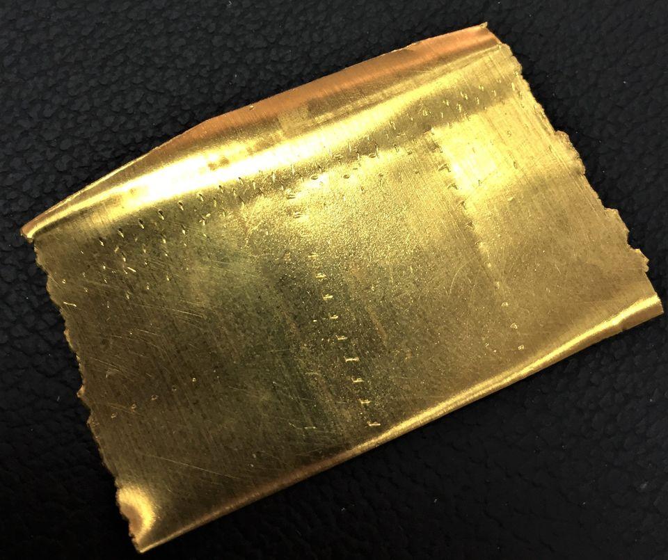 Η εικόνα του χρυσού μετά το λιώσιμο