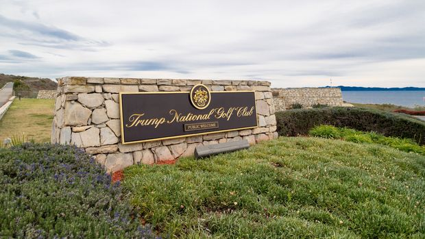 LOS ANGELES, CA - MARCH 18: View of Trump National Golf Club on March 18, 2018 in Los Angeles, California.  (Photo by RB/Bauer-Griffin/GC Images)