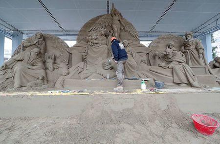 Βατικανό: Μια φάτνη από 720 τόνους άμμου στην πλατεία του Αγίου