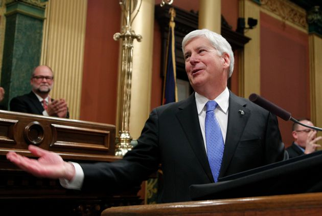 Michigan Gov. Rick Snyder at the state Capitol in Lansing. With an incoming Democratic governor, the...