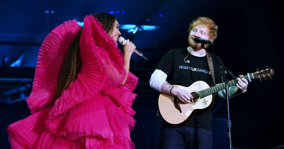 Ed Sheeran Responds To Comments That He Looked Like A Slob Next To Beyoncé