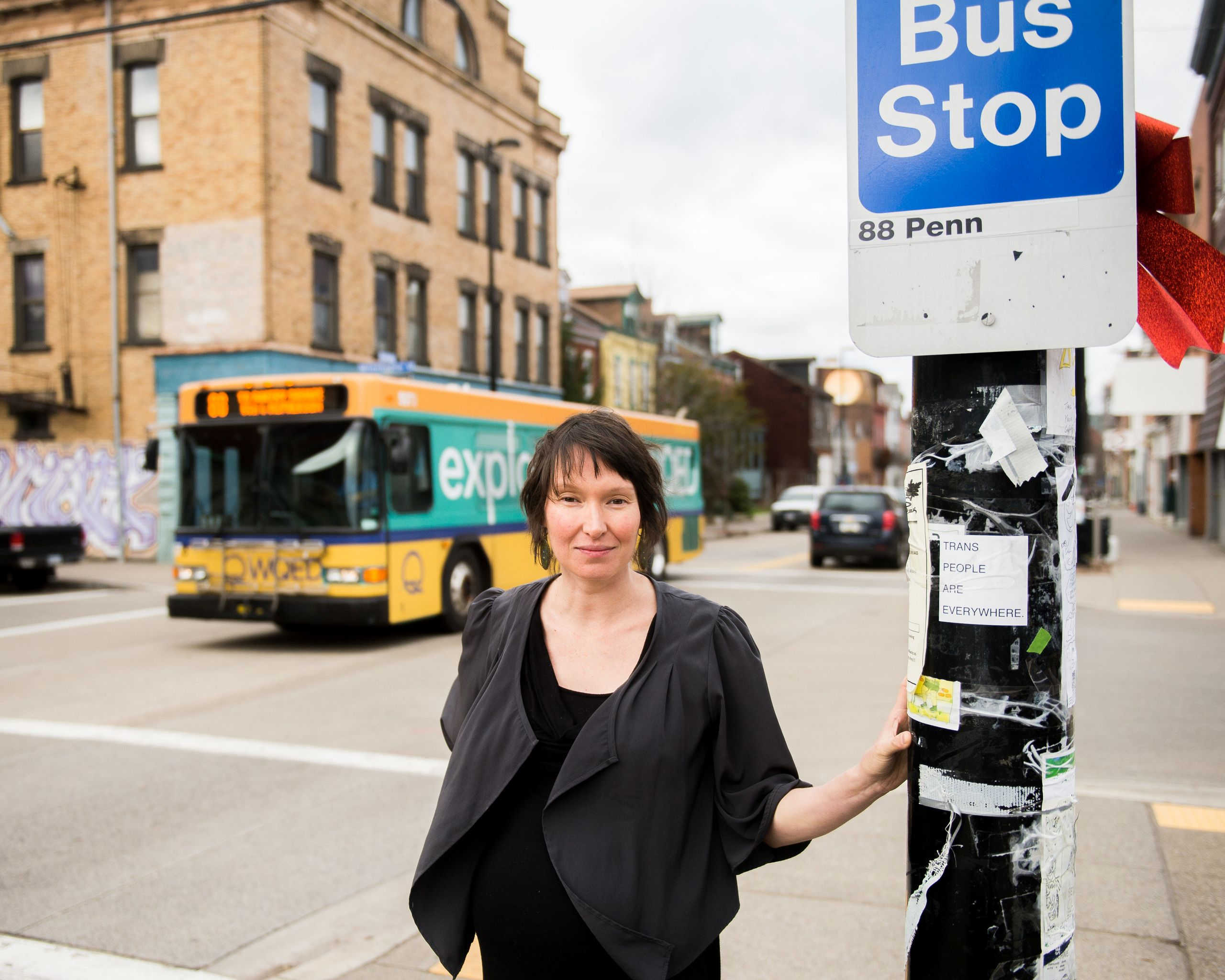 <i></i>Laura Wiens serves as director of Pittsburghers for Public Transit, whose board members include Green.