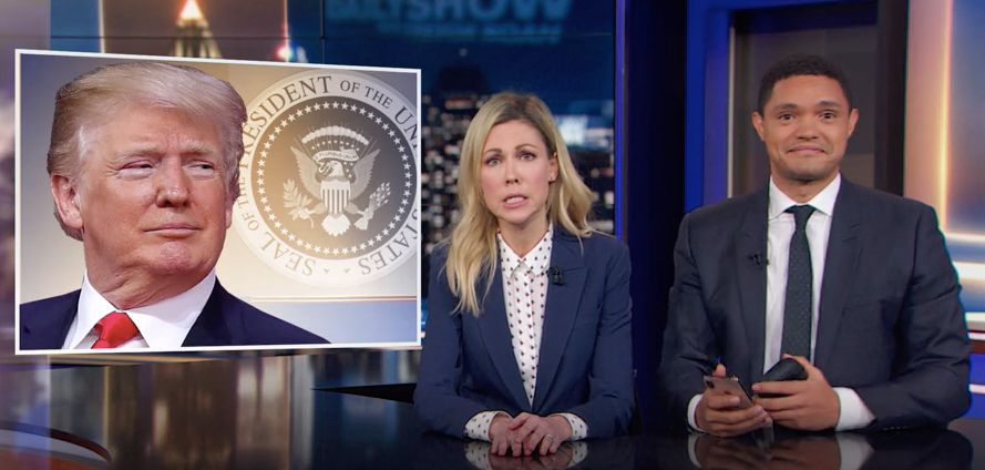 Desi Lydic and Trevor Noah discuss Trump's undocumented housekeeper