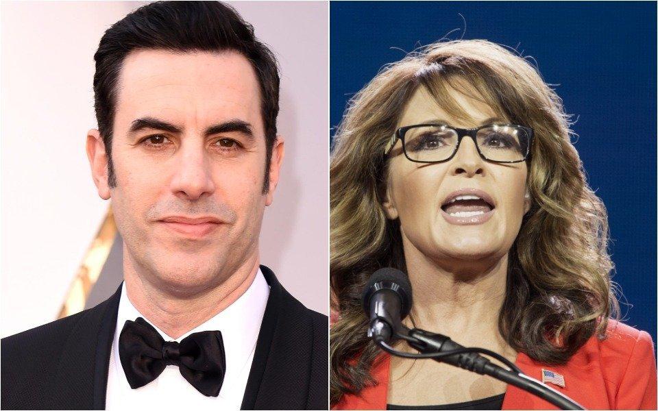 Sacha Baron Cohen Trolls Sarah Palin With Cheeky Golden Globes Request