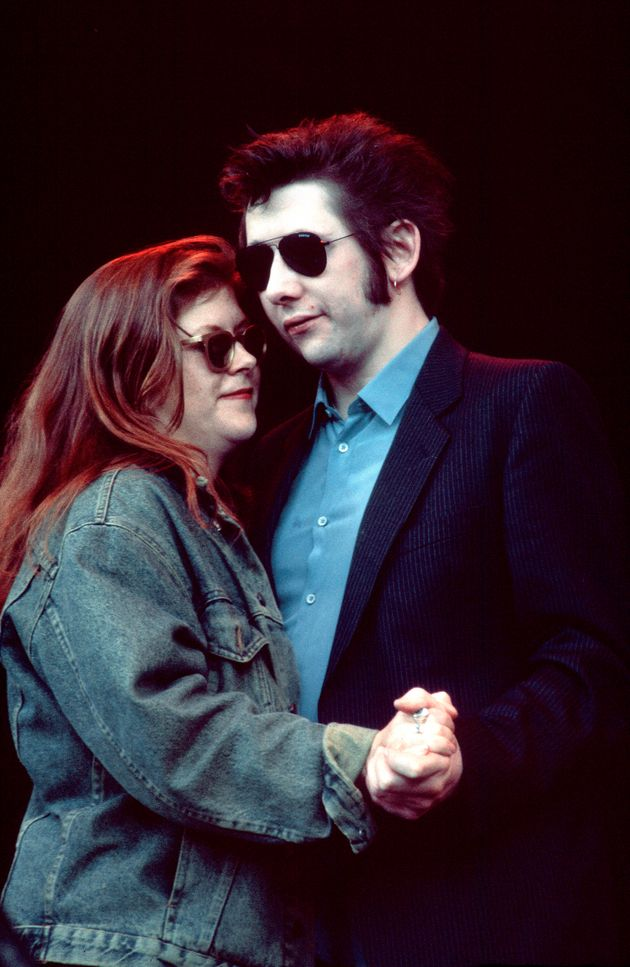 The late Kirsty MacColl, with Shane