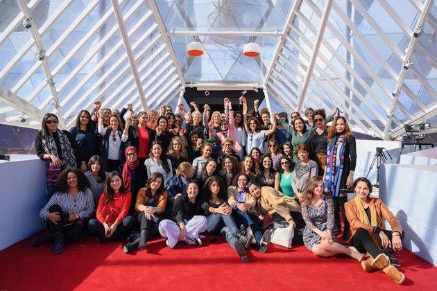 50 Marocaines de l'industrie du cinéma réunies sur le tapis rouge du FIFM pour