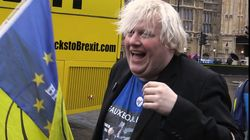 Anti-Brexit Bus Leaves Westminster For Tour Of