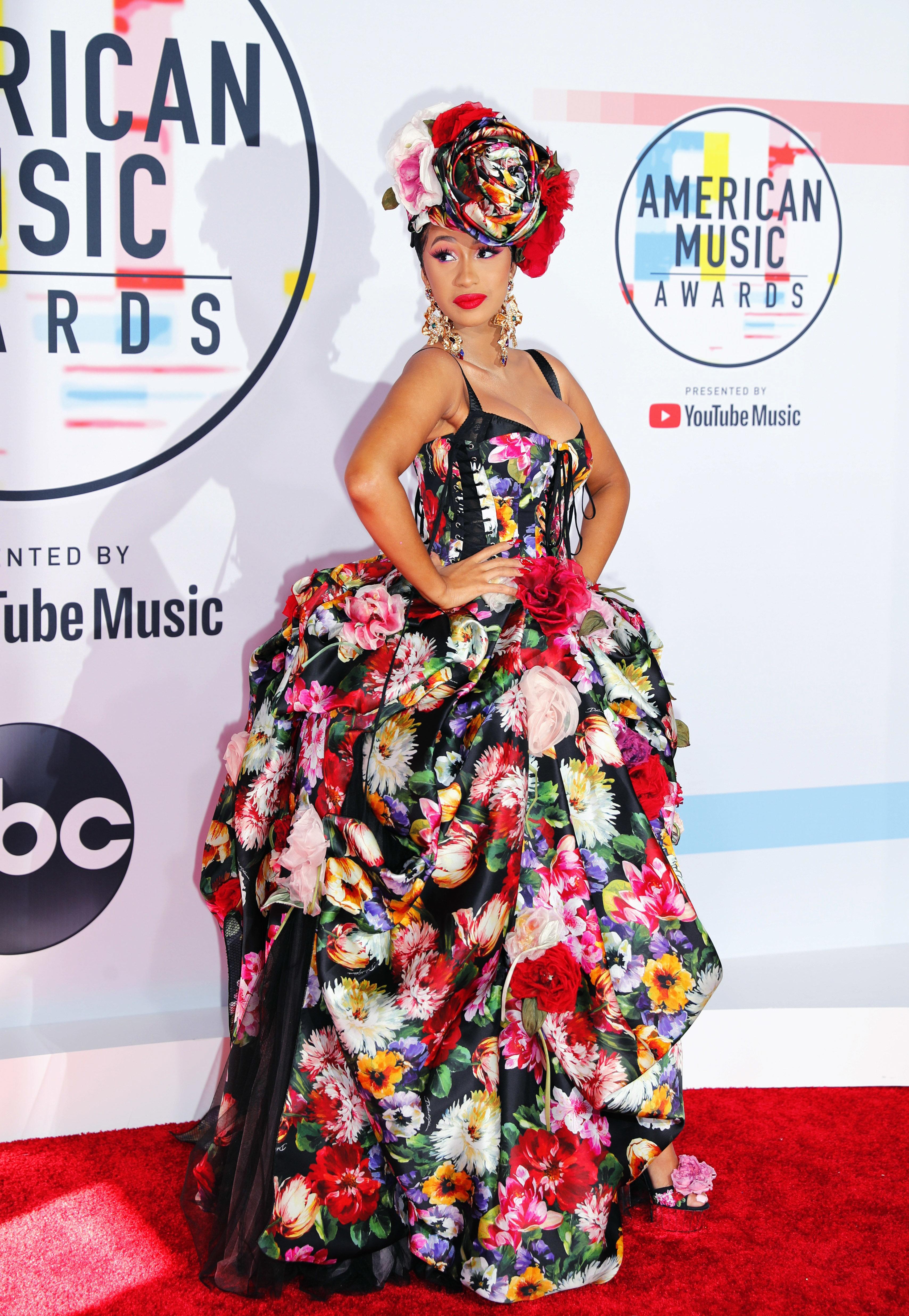 2018 American Music Awards – Arrivals – Los Angeles, California, U.S., 09/10/2018 – Cardi B poses. REUTERS/Mike Blake