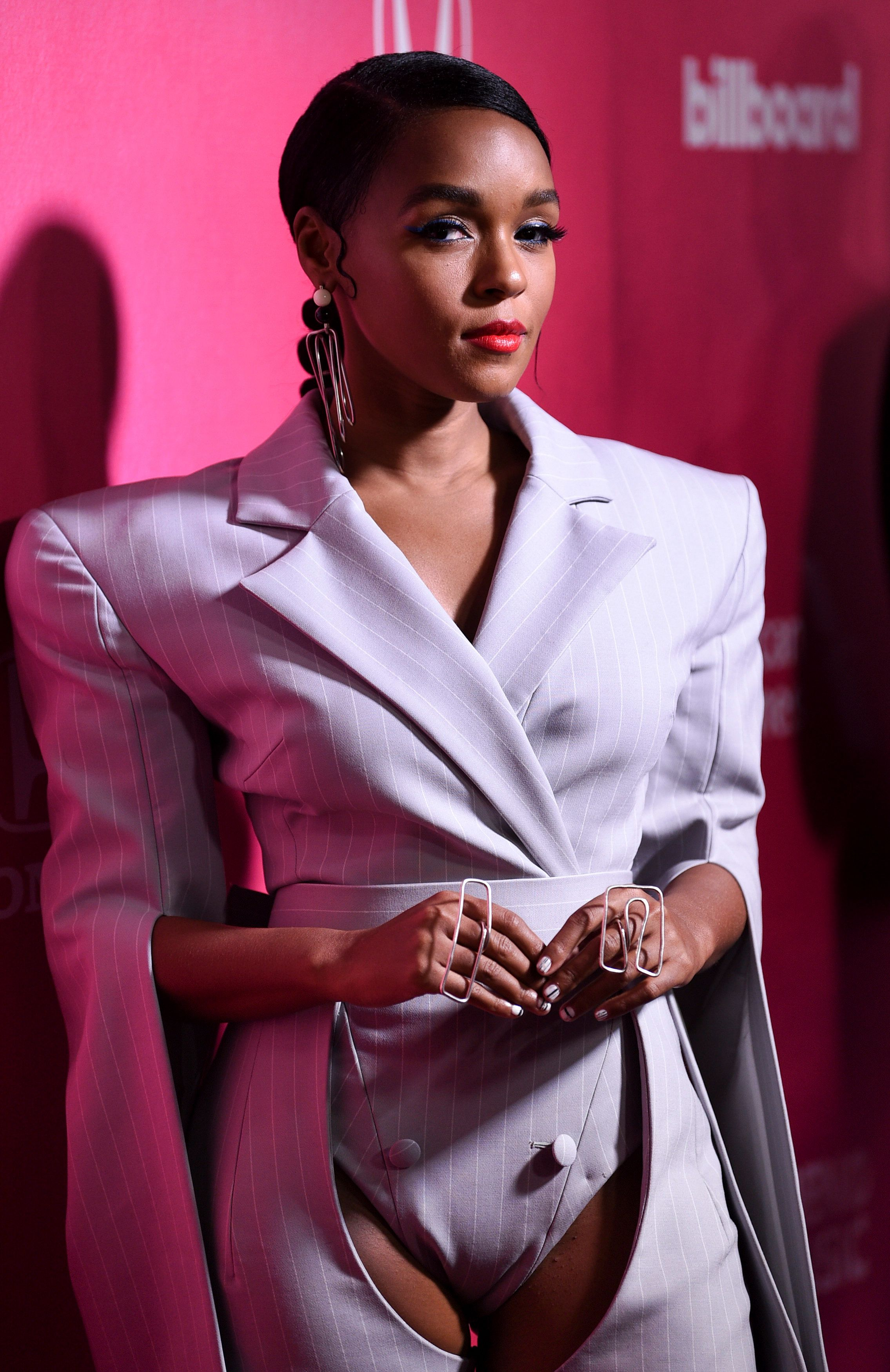Singer-songwriter Janelle Monae attends the 13th annual Billboard Women in Music event at Pier 36 on Thursday, Dec. 6, 2018, in New York. (Photo by Evan Agostini/Invision/AP)