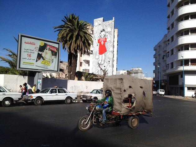 A Casablanca, une célèbre fresque murale de l'artiste Millo effacée par des