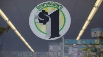 An advertising sign is pictured at a Dollar Tree store in Pasadena, California August 31, 2015.   REUTERS/Mario Anzuoni/File Photo  GLOBAL BUSINESS WEEK AHEAD PACKAGE - SEARCH 'BUSINESS WEEK AHEAD MAY 16'  FOR ALL IMAGES?