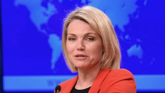 US State Department spokesperson Heather Nauert speaks during the release of the international religious freedom report at the State Department in Washington, DC on May 29, 2018. (Photo by Mandel Ngan / AFP)        (Photo credit should read MANDEL NGAN/AFP/Getty Images)