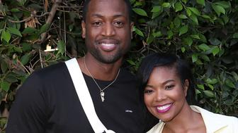 LOS ANGELES, CA - JULY 30:  (L-R) Basketball Player Dwyane Wade and Actress Gabrielle Union attend Hallmark's When You Care Enough to Put It Into Words Launch Event on July 30, 2018 in Los Angeles, California.  (Photo by Ari Perilstein/Getty Images for mediaplacement)