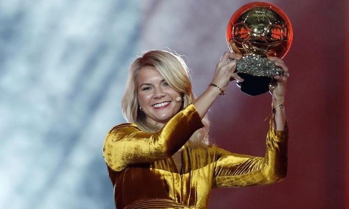 Norwegian soccer star Ada Hegerberg won the Women's Ballon d'Or on Monday.