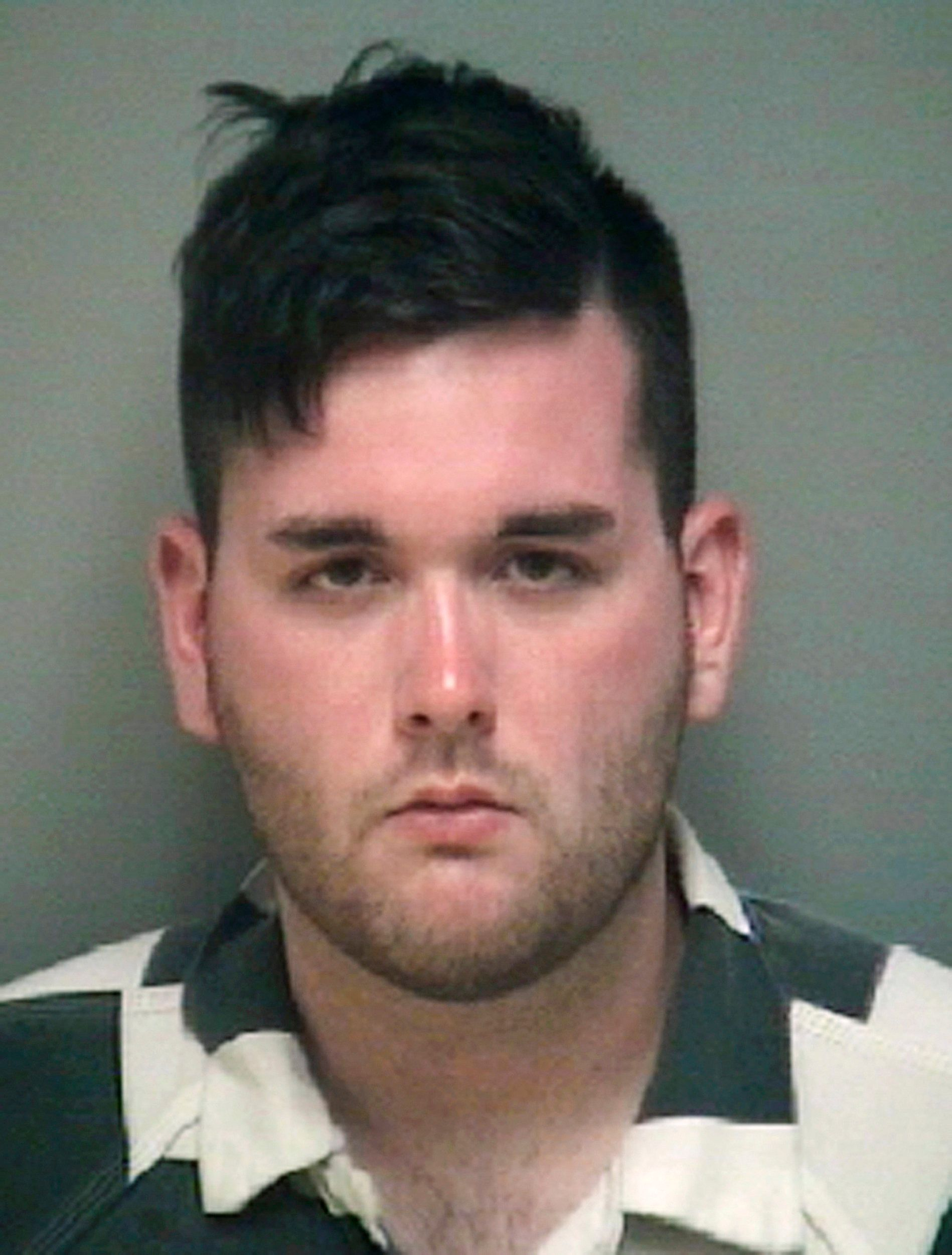 FILE - This undated file photo provided by the Albemarle-Charlottesville Regional Jail shows James Alex Fields Jr. Jurors in the trial of the man accused of killing a woman and injuring dozens at a white nationalist rally are expected to hear closing arguments in the case after testimony from final defense witnesses. Fields is charged with first-degree murder and other counts for driving his car into a crowd of counterprotesters in Charlottesville on Aug. 12, 2017. (Albemarle-Charlottesville Regional Jail via AP, File)