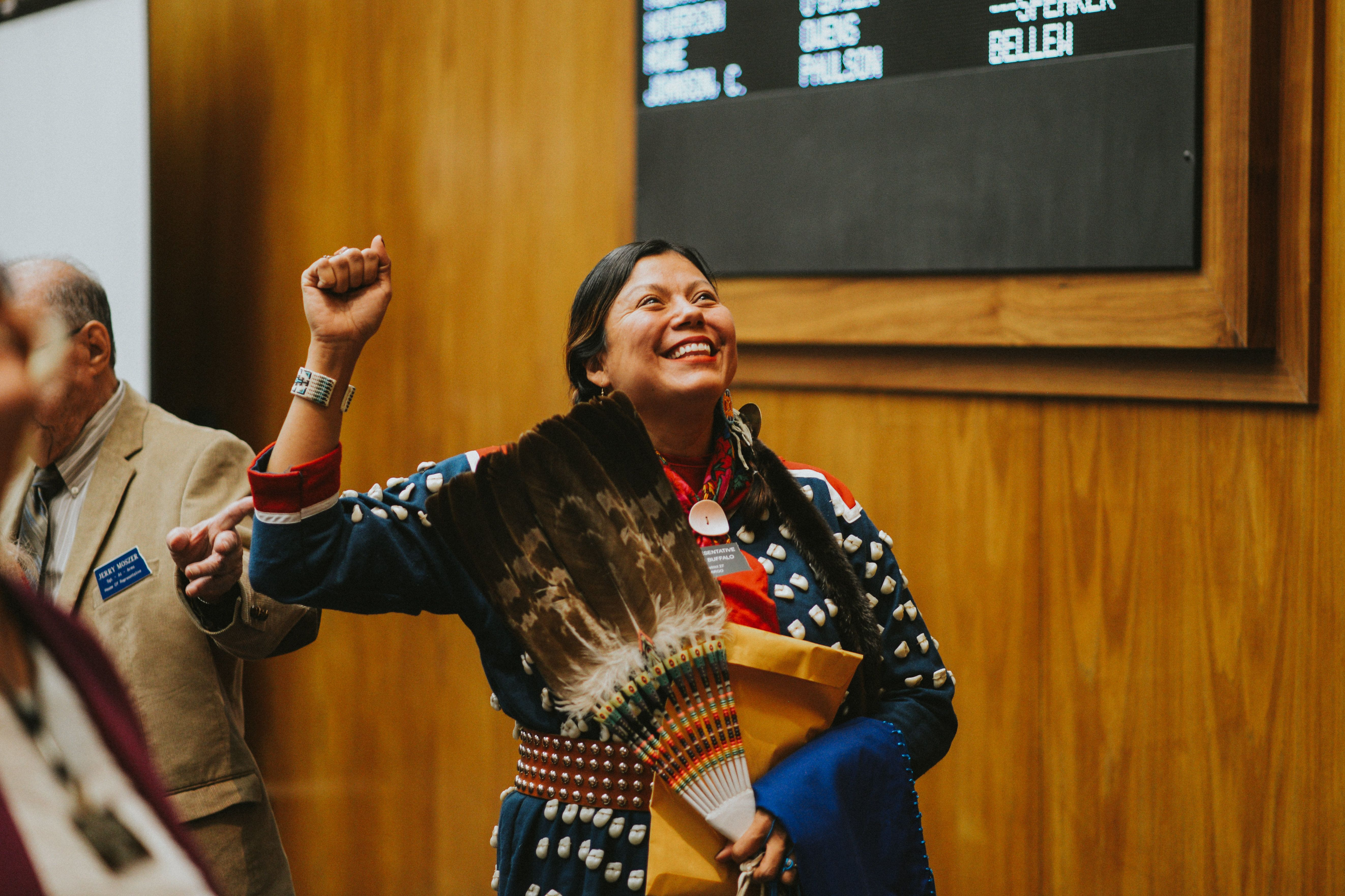 N.D.'s First Native American Democratic Woman Wore Traditional Garb During