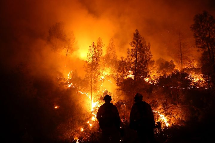 Firefighters battle the Mendocino Complex fire in Northern California.