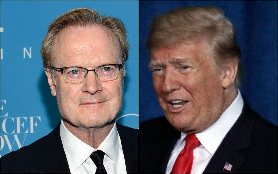 Lawrence O'Donnell and Donald Trump