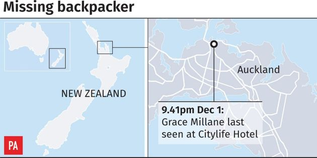 Grace was last seen at the posh Citylife Hotel in Auckland,