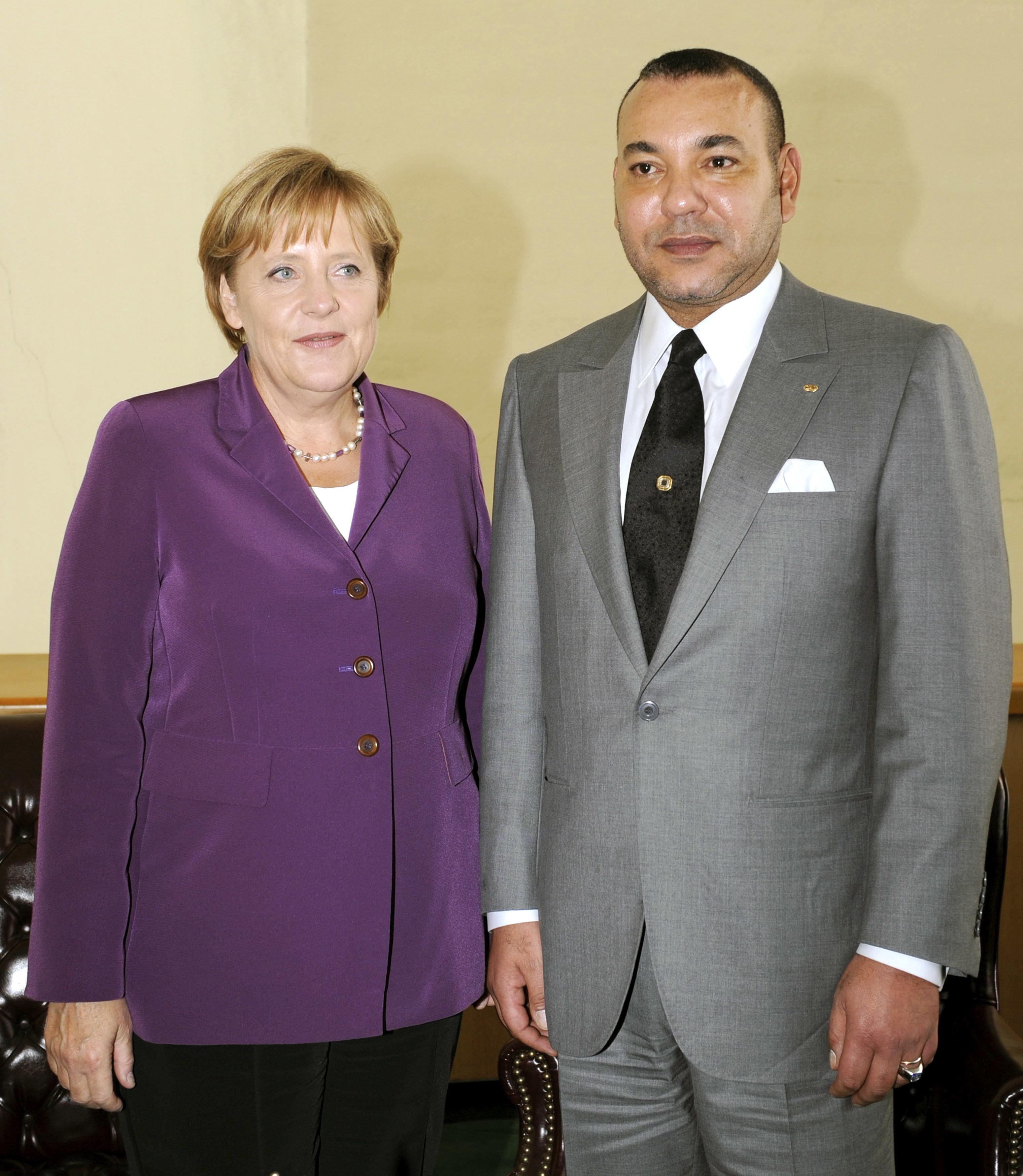 Le roi Mohammed VI recevra la chancelière allemande Angela