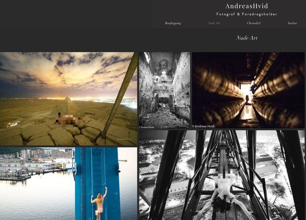 The website of photographer Andreas Hvid includes several images which appear to show subjects nude on...