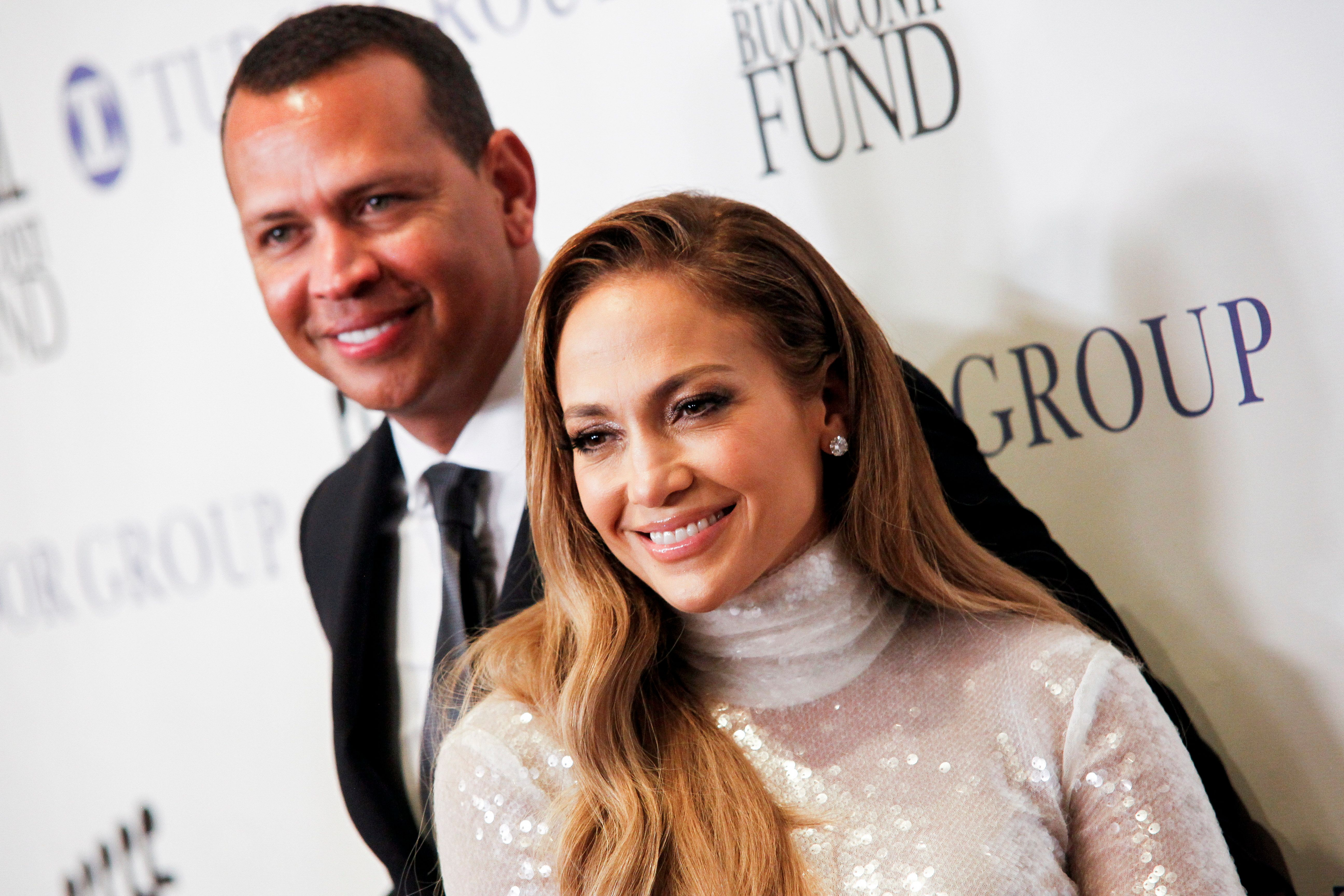 Alex Rodriguez, left, and Jennifer Lopez, right, attend the 33rd annual Great Sports Legends Dinner at the New York Hilton Midtown on Monday, Sept. 24, 2018, in New York. (Photo by Andy Kropa/Invision/AP)