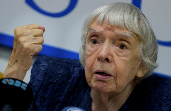 Russian human rights activist Lyudmila Alexeyeva, seen here in Moscow in 2012, died on Saturday at the age of 91.