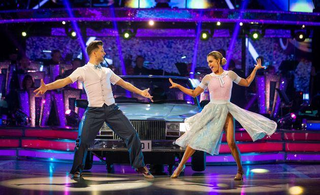Ashley danced with Pasha Kovalev this