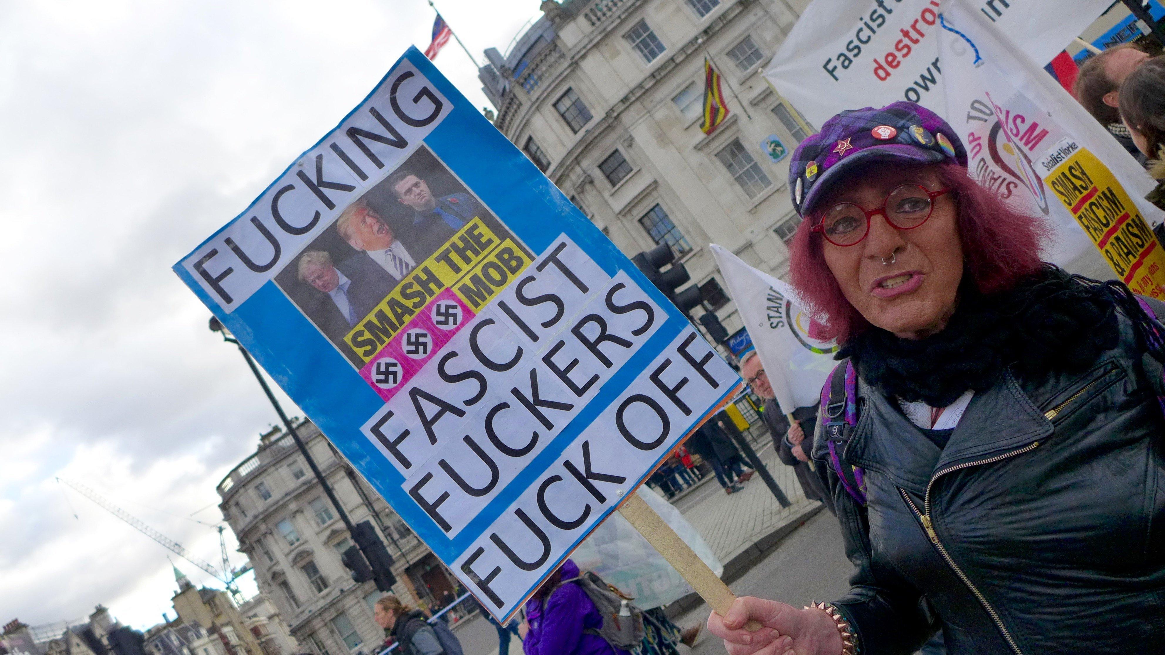 [화보] 브렉시트 '운명의 날'을 앞두고 영국에서 찬반 시위가