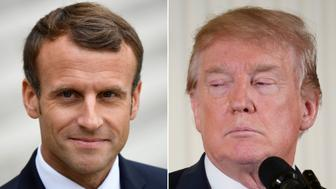 EMMANUEL MACRON DONALD TRUMP GETTY EDITORIAL
