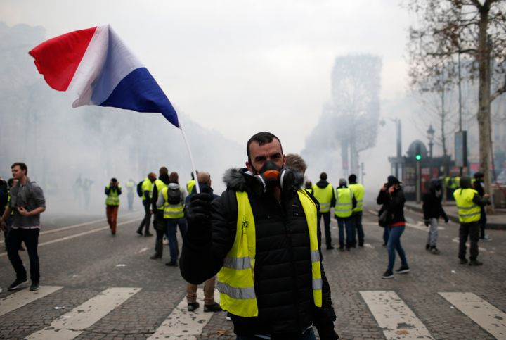 The protests were initially sparked by planned fuel tax increases but have morphed into a wider rebellion against the French