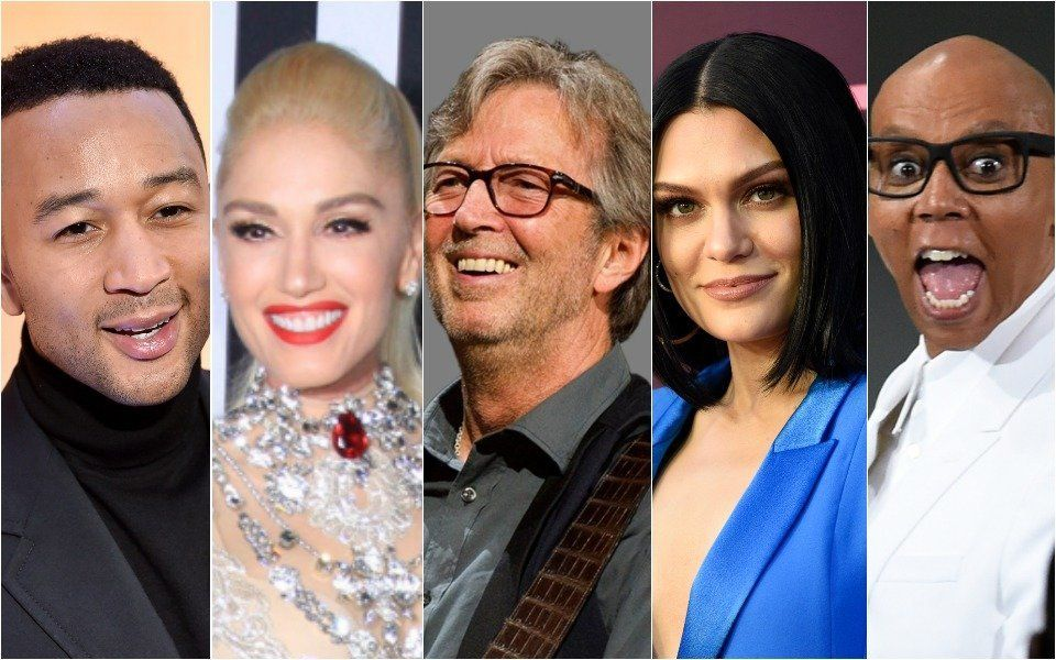 John Legend, Gwen Stefani, Eric Clapton, Jessie J, RuPaul