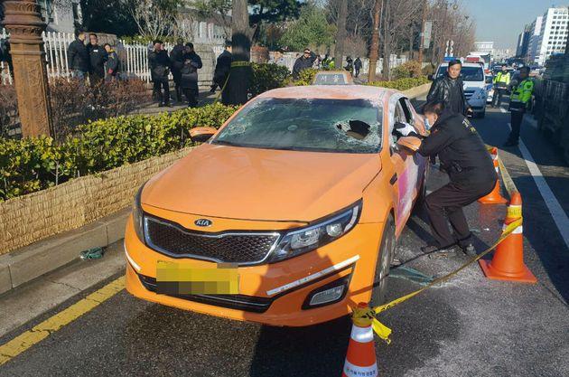 국회 앞에서 분신 사망한 택시기사의 유서가