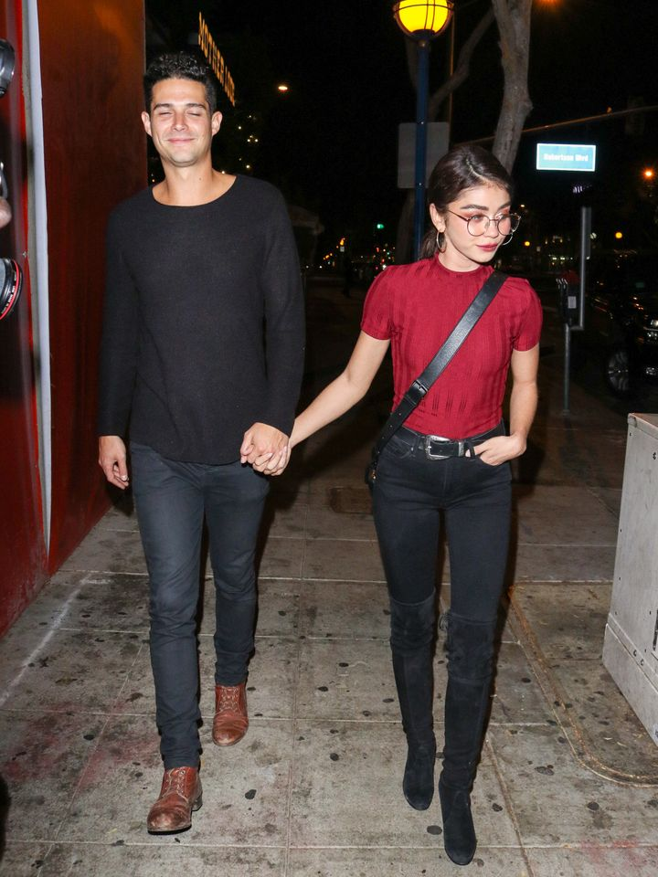 Wells Adams and Sarah Hyland photographed together in Los Angeles in November.