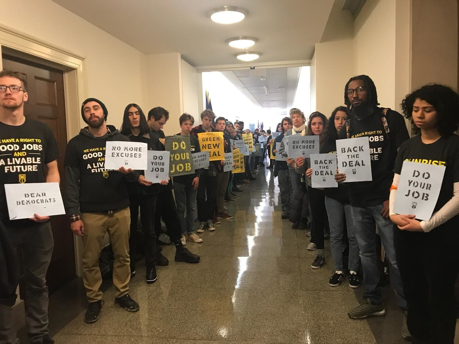 Protesters Arrested Outside Nancy Pelosi's Office In Climate