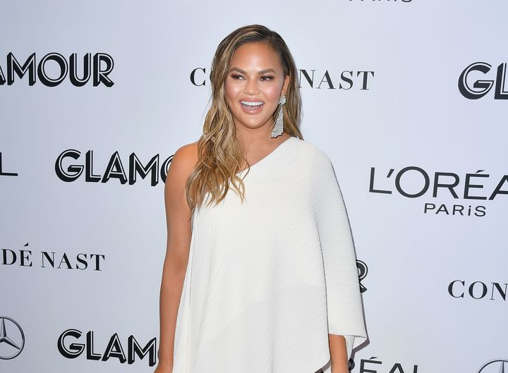 Chrissy Teigen arrives at theGlamour Women of the Year Awards in November.