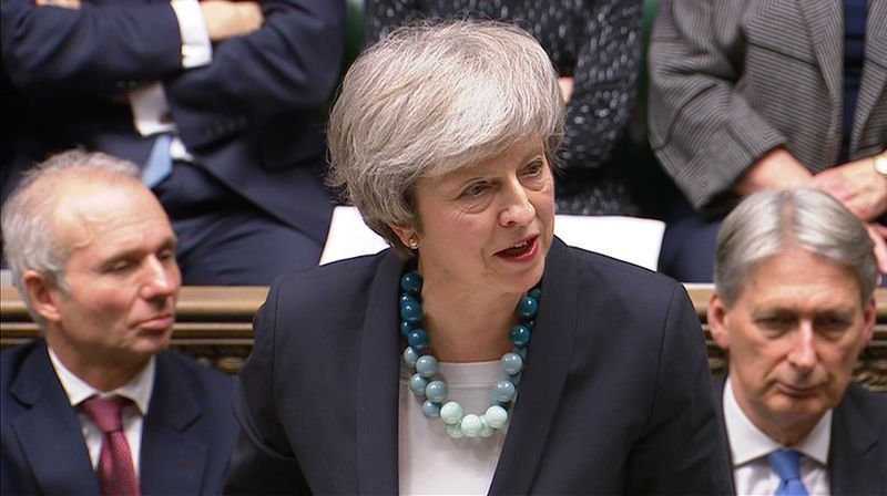 <strong>Theresa May in the House of Commons</strong>&#8220;></img> </p> <div class=