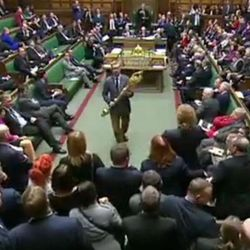 MP Kicked Out Of Wild Scenes In Parliament For Grabbing Ceremonial Mace In Brexit