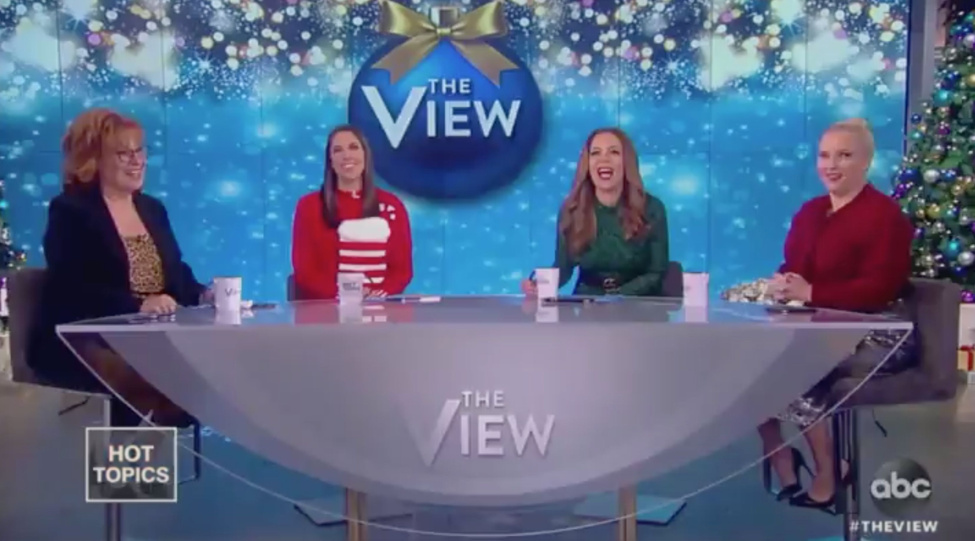 "Joy Behar and the hosts of ""The View"" joke about Trump's mounting legal troubles."