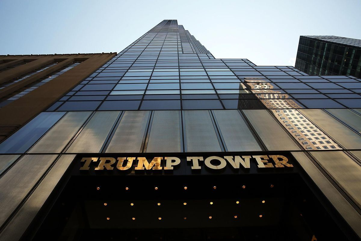 Trump Tower in Manhattan, headquarters of the Trump Organization, owned by the president.