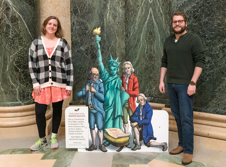 The Freedom From Religion Foundation's annual Winter Solstice exhibit is up at the Wisconsin Capitol for the 23rd year