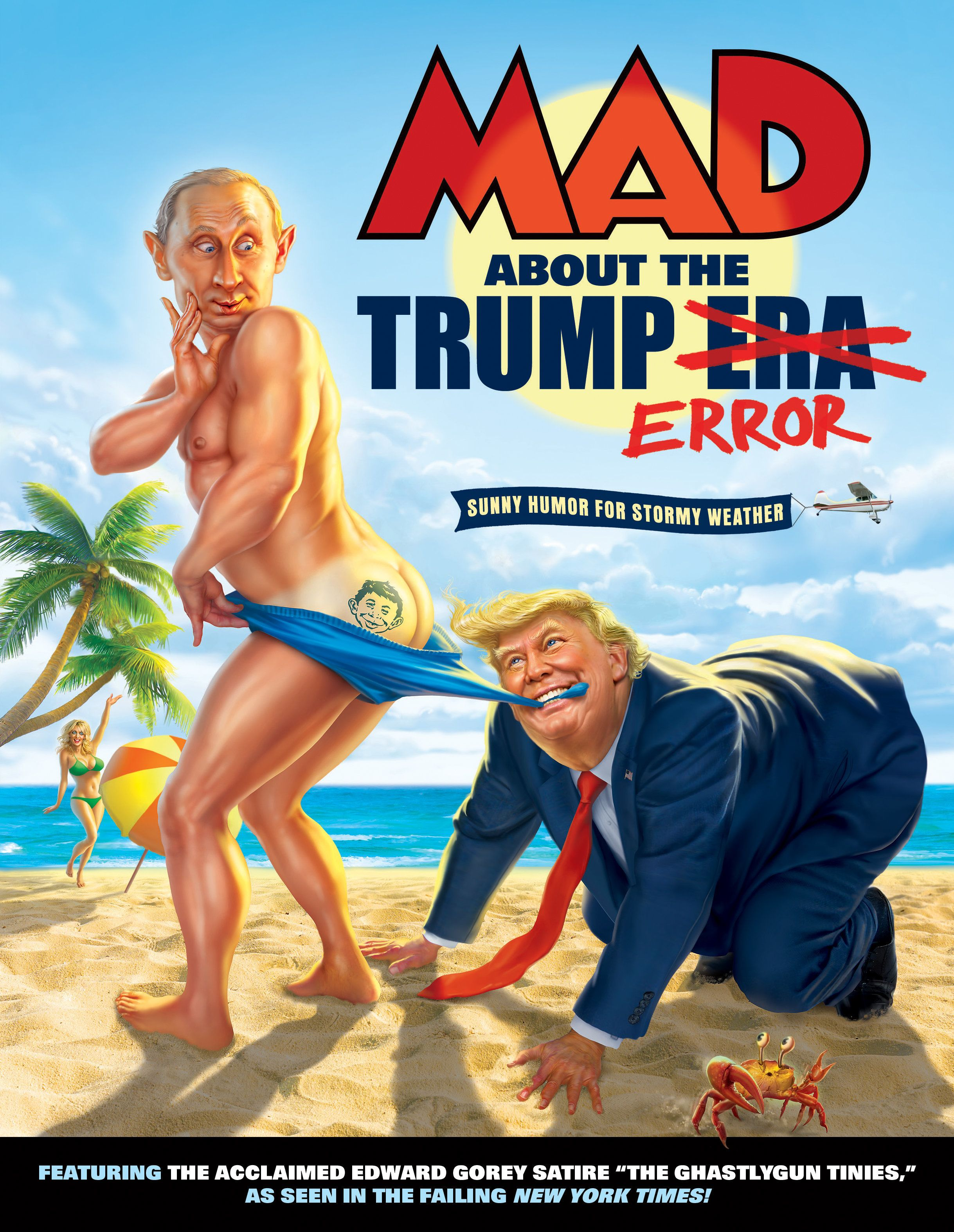 The cover of MAD magazine's latest book on Donald Trump.